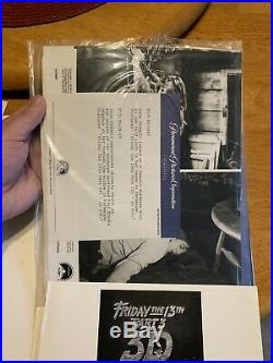 1982 FRIDAY THE 13TH PART 3-3D Jason MOVIE PRESS KIT With (7) Photos COMPLETE
