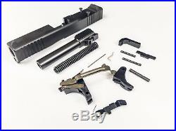 Glock 19 Gen 3 9mm Complete Slide Upper, Lower Parts Kit NEW. Fits Poly 80 RDO