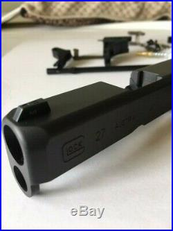 Glock 27 Gen3 Complete Factory Slide with Barrel Night Sights and Lower Parts Kit