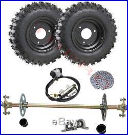 Go Kart Rear Axle Shaft Kit 6 Complete Wheels Set Off-Road Fun Cart Parts DIY