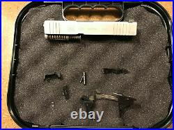 New OEM Glock 43x Silver Slide Complete Upper & Lower Parts Kit with Night Sights
