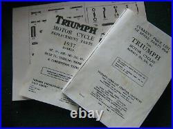 Triumph 350 500 650 Pre- Unit Pre-war Complete Motorcycle Tool Kit